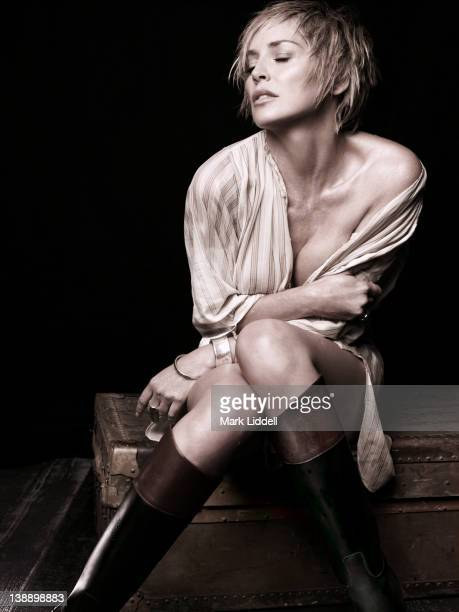 Actress Sharon Stone is photographed for Vanity Fair Italy on October 4 2007 in Los Angeles California