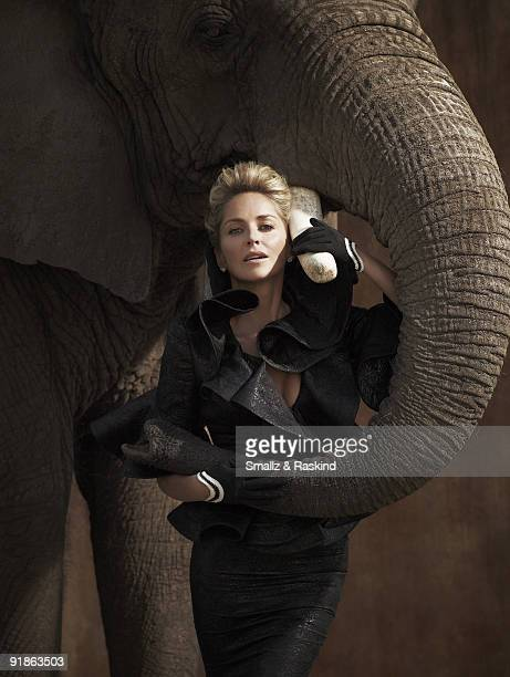 Actress Sharon Stone poses for a portrait session in Palmdale CA for Prestige Hong Kong Magazine ON EMBARGO IN ASIA UNTIL NOV 1 2009 COVER IMAGE