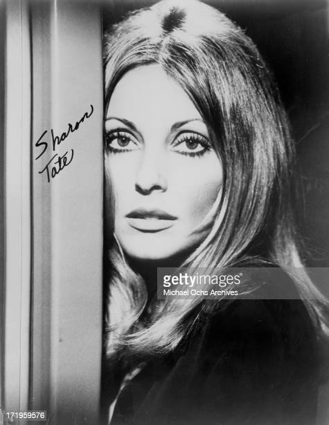 Actress Sharon Tate poses for a portrait in circa 1963