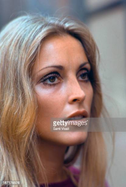 Actress Sharon Tate visiting the set of Rosemary's Baby on August 151967 in New York New York