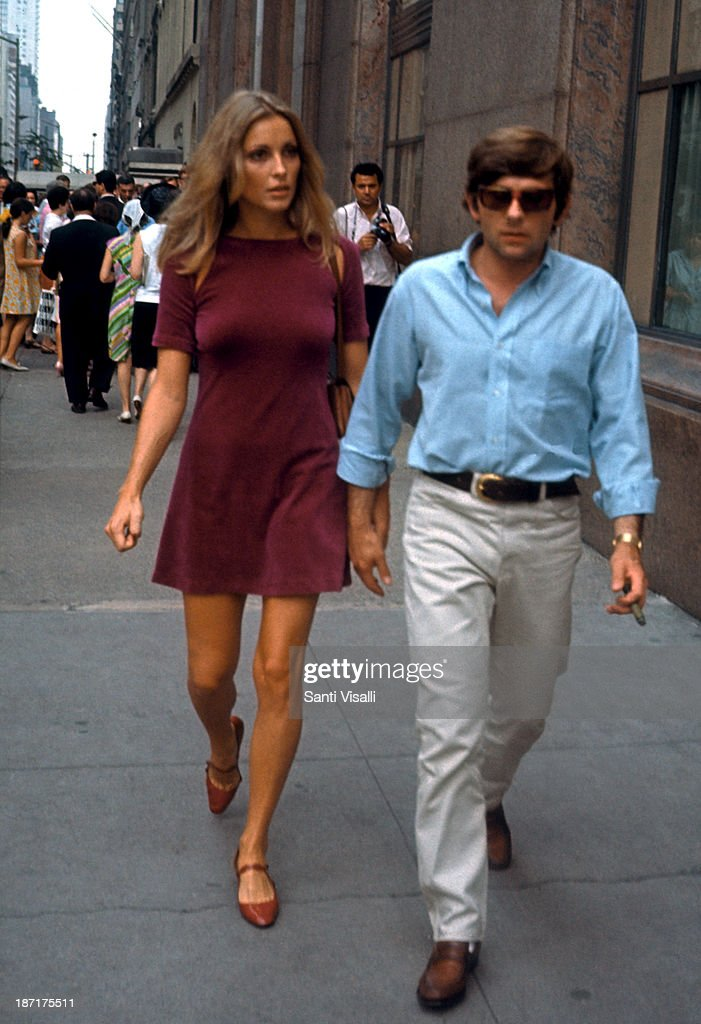 Actress <a gi-track='captionPersonalityLinkClicked' href=/galleries/search?phrase=Sharon+Tate&family=editorial&specificpeople=225003 ng-click='$event.stopPropagation()'>Sharon Tate</a> with her husband <a gi-track='captionPersonalityLinkClicked' href=/galleries/search?phrase=Roman+Polanski&family=editorial&specificpeople=207150 ng-click='$event.stopPropagation()'>Roman Polanski</a> visiting the set of Rosemary's Baby on August 15,1967 in New York, New York.