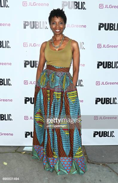 Actress Sharon Washington attends the 'Julius Caesar' opening night at Delacorte Theater on June 12 2017 in New York City