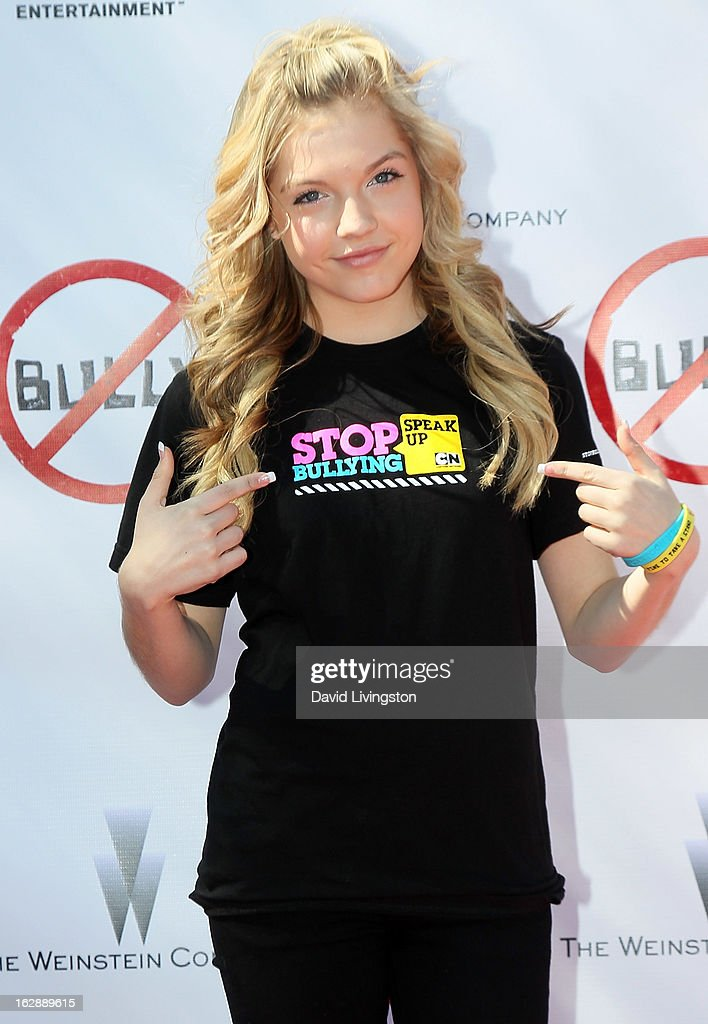 Actress Shauna Case attends Anchor Bay Entertainment & The Weinstein Company's 'BULLY' documentary balloon release at Culver City High School on February 28, 2013 in Culver City, California.