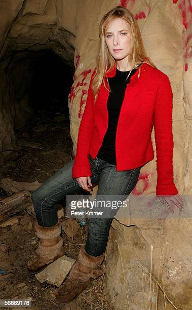 Actress Shauna Macdonald poses for portraits outside a cave entrance during the 2006 Sundance Film Festival January 25 2006 in Coalville Utah