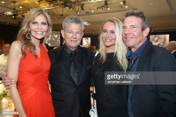 Actress Shawn King record producer David Foster Santa Auzina and actor Dennis Quaid attend Muhammad Ali's Celebrity Fight Night XXIII at the JW...