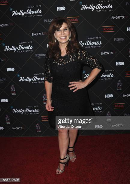 Actress Shawn Pelofsky arrives for the HollyShorts Film Festival closing night film 'This Is Meg' held at TCL Chinese 6 Theatres on August 19 2017 in...