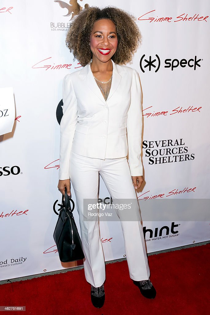 Actress <a gi-track='captionPersonalityLinkClicked' href=/galleries/search?phrase=Shawn+Richardz&family=editorial&specificpeople=601414 ng-click='$event.stopPropagation()'>Shawn Richardz</a> attends the 'Gimme Shelter' Los Angeles Premiere at the Egyptian Theatre on January 14, 2014 in Hollywood, California.