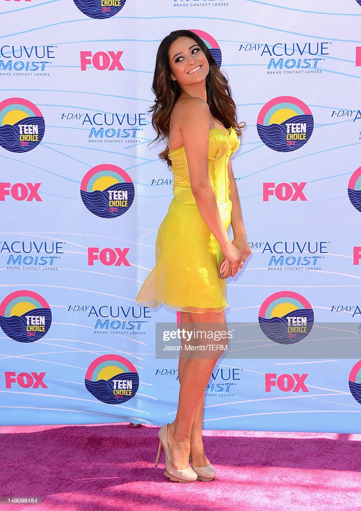 Actress Shay Mitchell arrives at the 2012 Teen Choice Awards at Gibson Amphitheatre on July 22, 2012 in Universal City, California.