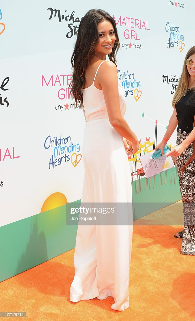 Actress Shay Mitchell arrives at the Children Mending Heart's 7th Annual Empathy Rocks Fundraiser on June 14 2015 in Malibu California