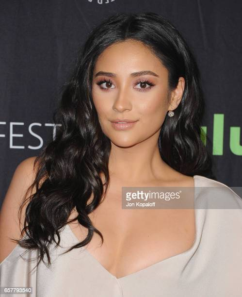 Actress Shay Mitchell arrives at The Paley Center For Media's 34th Annual PaleyFest Los Angeles 'Pretty Little Liars' at Dolby Theatre on March 25...
