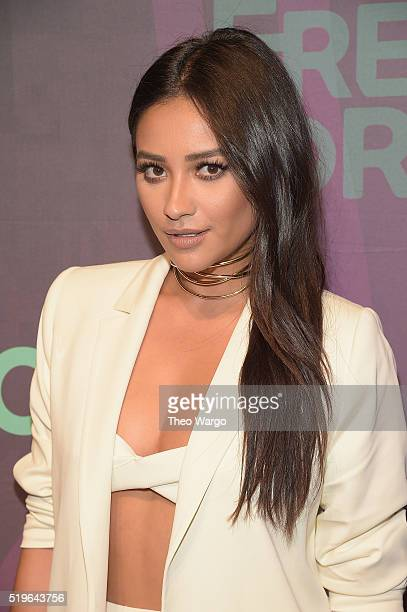 Actress Shay Mitchell attends 2016 ABC Freeform Upfront at Spring Studios on April 7 2016 in New York City
