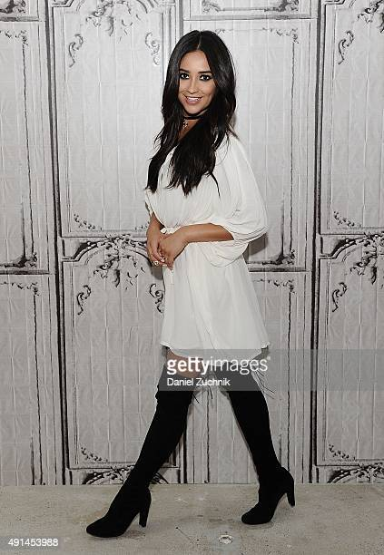 Actress Shay Mitchell attends AOL Build at AOL Studios on October 5 2015 in New York City