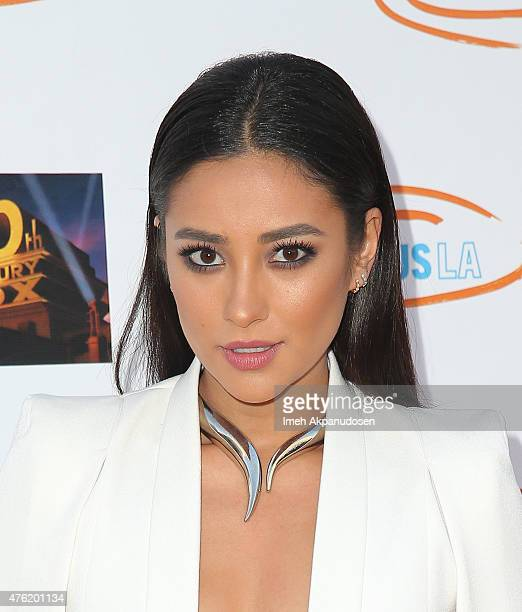 Actress Shay Mitchell attends Lupus LA's Orange Ball A Night Of Superheroes at Fox Studio Lot on June 6 2015 in Century City California