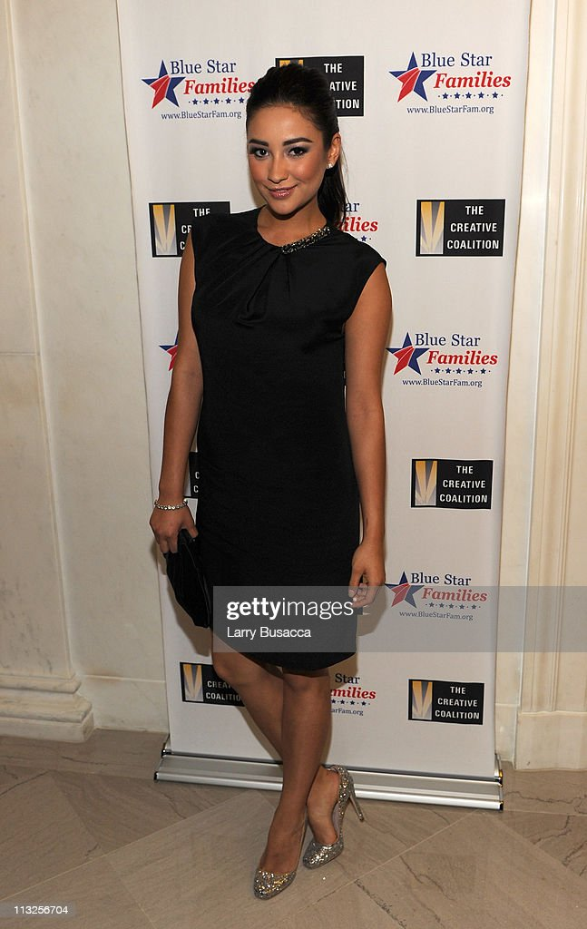 Actress Shay Mitchell attends the Creative Coalition and Blue Star Families PSA premiere gala at American Red Cross on April 28, 2011 in Washington, DC.