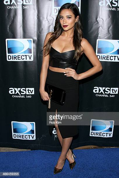 Actress Shay Mitchell attends the DirecTV Super Saturday Night at Pier 40 on February 1 2014 in New York City