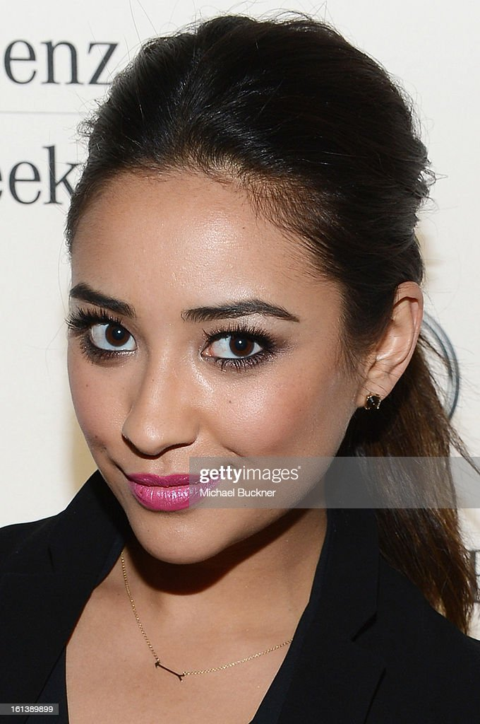 Actress Shay Mitchell attends the Mercedes-Benz Start Lounge at Lincoln Center on February 10, 2013 in New York City.