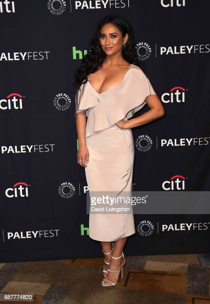Actress Shay Mitchell attends The Paley Center for Media's 34th Annual PaleyFest Los Angeles presentation of 'Pretty Little Liars' at Dolby Theatre...