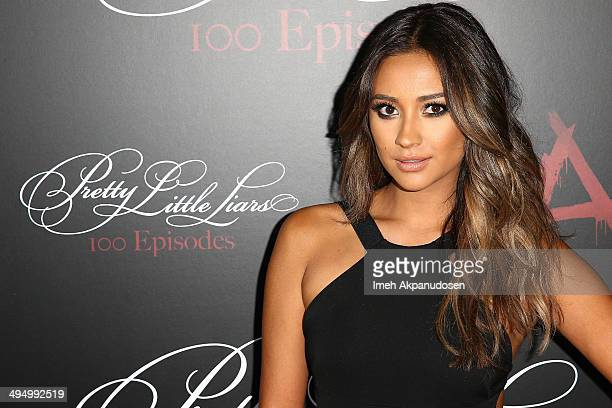 Actress Shay Mitchell attends the 'Pretty Little Liars' 100th episode celebration at W Hollywood on May 31 2014 in Hollywood California