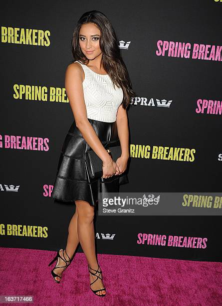 Actress Shay Mitchell attends the 'Spring Breakers' Los Angeles Premiere at ArcLight Hollywood on March 14 2013 in Hollywood California