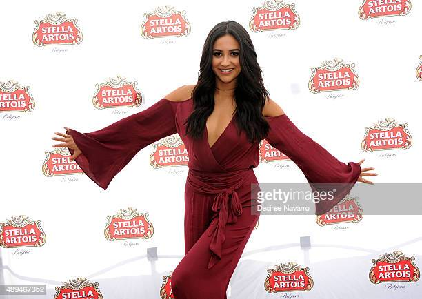 Actress Shay Mitchell hosts 'Bon Voyage To Summer' at Battery Park on September 21 2015 in New York City