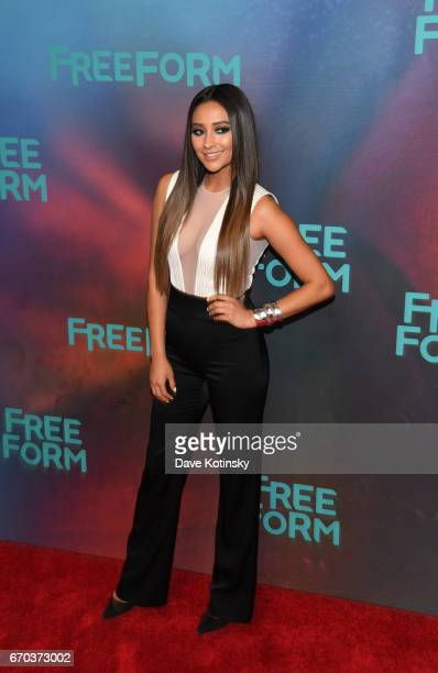 Actress Shay Mitchell of 'Pretty Little Liars' attends Freeform 2017 Upfront at Hudson Mercantile on April 19 2017 in New York City