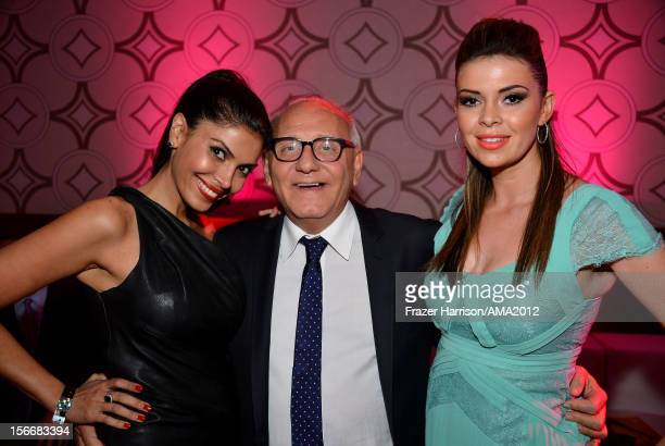 Actress Sheila Shah Fashion designer Max Azria and actress Carly Steel attend the 40th American Music Awards After Party at the JW Marriott Los...