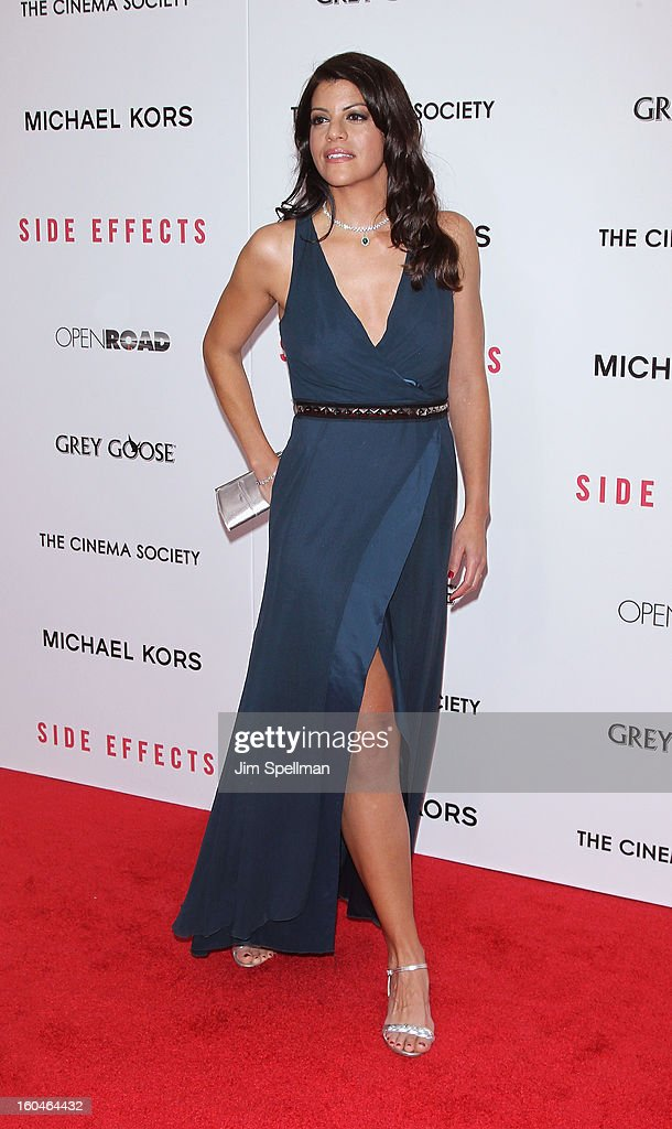 Actress Sheila Tapia attends the Open Road With The Cinema Society And Michael Kors Host The Premiere Of 'Side Effects' at AMC Lincoln Square Theater on January 31, 2013 in New York City.