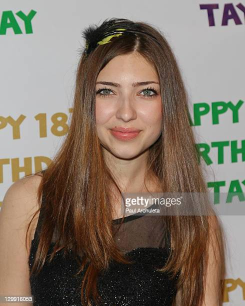 Actress Shelby Young attends Taylor Spreitler 18th Birthday Party at Crimson on October 21 2011 in Hollywood California