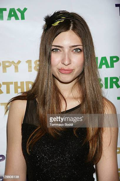 Actress Shelby Young attends Taylor Spreitler's 18th birthday party held at Crimson on October 21 2011 in Hollywood California