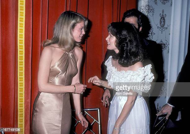 Actress Shelley Hack and actress Jaclyn Smith attend 'The Love Boat' Honors Helen Hayes on February 22 1980 at the Beverly Hills Hotel in Beverly...
