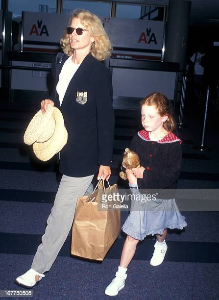Actress Shelley Hack and daughter Devon Winer depart New York City on July 12 1997 at the Los Angeles International Airport in Los Angeles California