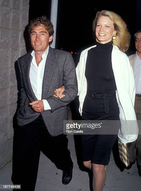 Actress Shelley Hack and husband Harry Winer attend 'The Believers' Beverly Hills Premiere on June 3 1987 at the Academy Theatre in Beverly Hills...