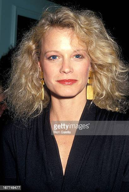 Actress Shelley Hack attends Dr Armand Hammer and Jean Smith Kennedy Host a Dinner Party to Celebrate the Unveiling of a Serigraph of Senator Ted...