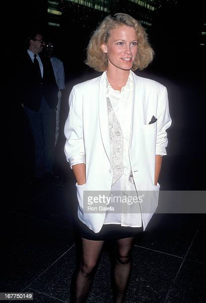 Actress Shelley Hack attends the Screening of the ABC Original Movie 'I Love You Perfect' on September 5 1989 at the DGA Theatre in West Hollywood...