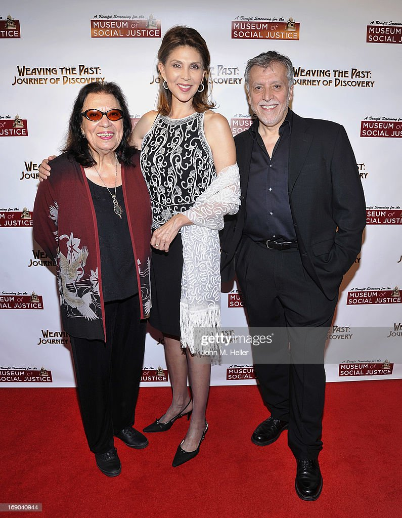 Actress Shelley Morrison, news reporter ABC TV Channel 7 Miriam hernandez and director/writer/producer of 'Weaving The Past: Journey Of Discovery' Walter Dominguez attends the screening of 'Weaving The Past: Journey Of Discovery' at the Linwood Dunn Theater at the Pickford Center for Motion Study on May 18, 2013 in Hollywood, California.