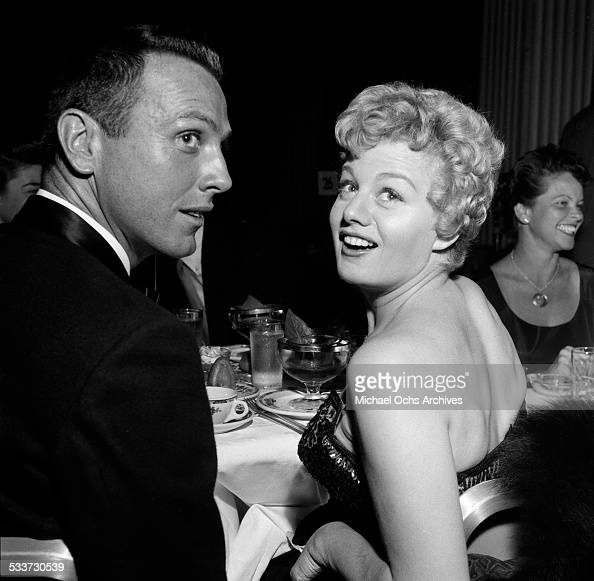 Actress Shelley Winters and actor Tom Hennessy attend an event in Los AngelesCA