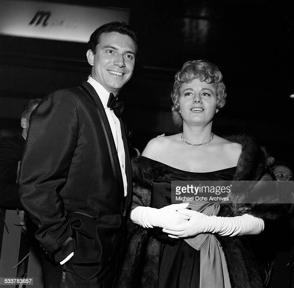 Actress Shelley Winters and husband actor Anthony Franciosa attend an event in Los AngelesCA