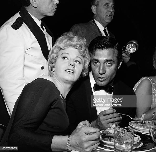 Actress Shelley Winters attends the Golden Globes in Los AngelesCA