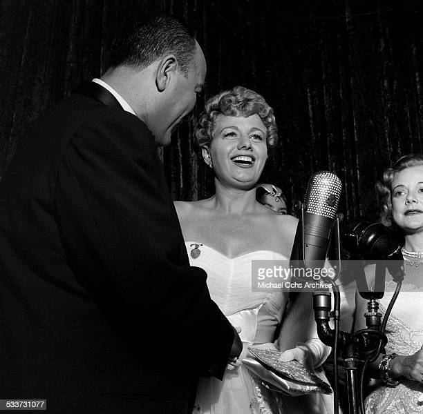 Actress Shelley Winters attends the premiere of 'A Star Is Born' in Los AngelesCA