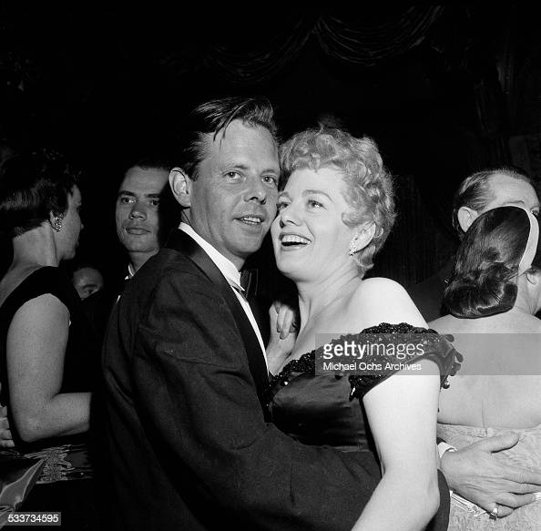 Actress Shelley Winters dances with a friend during the Screen Directors Dinner Awards dinner in Los AngelesCA