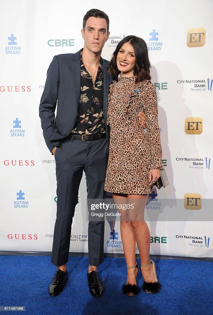 Actress Shenae Grimes and husband Josh Beech arrive at the Metropolitan Fashion Week 2016 - La Vie En Bleu - Signature Event Benefiting Autism Speaks at Warner Bros. Studios on September 29, 2016 in Burbank, California.