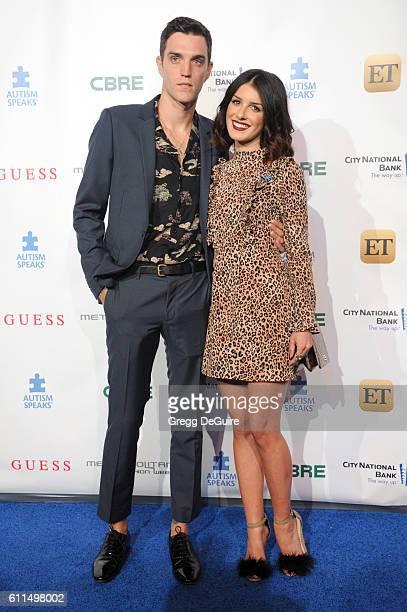 Actress Shenae Grimes and husband Josh Beech arrive at the Metropolitan Fashion Week 2016 La Vie En Bleu Signature Event Benefiting Autism Speaks at...