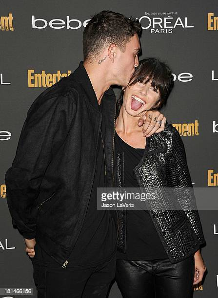 Actress Shenae Grimes and husband Josh Beech attend the Entertainment Weekly preEmmy party at Fig Olive Melrose Place on September 20 2013 in West...