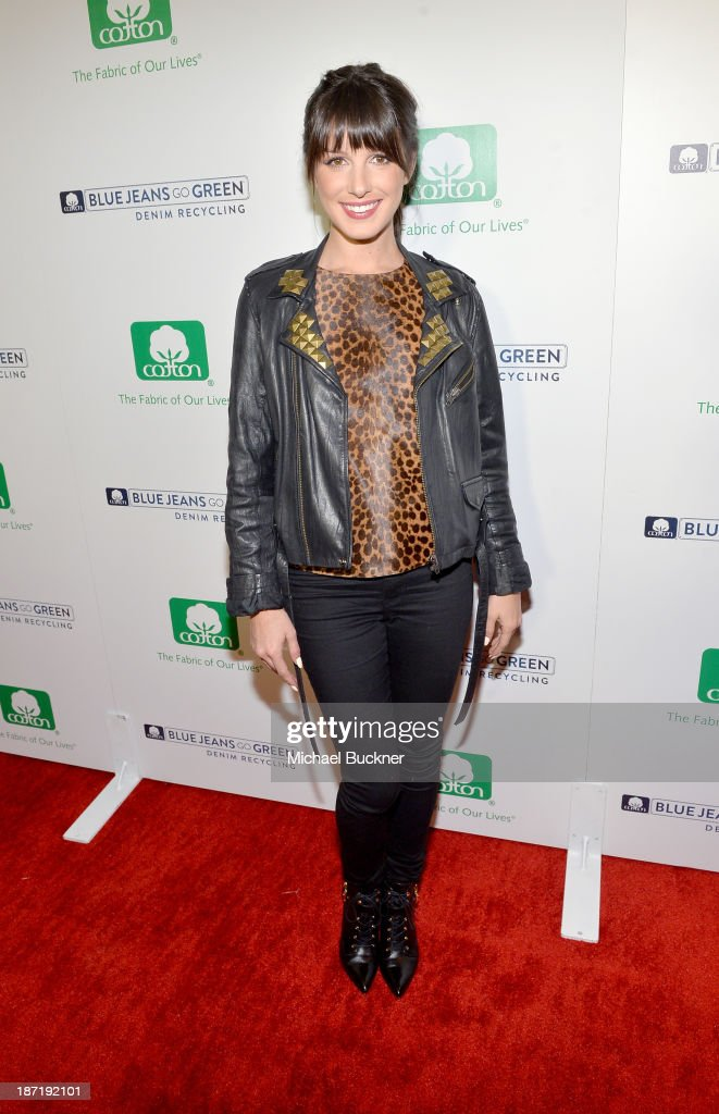 Actress <a gi-track='captionPersonalityLinkClicked' href=/galleries/search?phrase=Shenae+Grimes&family=editorial&specificpeople=2153141 ng-click='$event.stopPropagation()'>Shenae Grimes</a> attends Cotton Incorporated's Blue Jeans Go Green celebrates 1 million pieces of denim collected for recycling at SkyBar at the Mondrian Los Angeles on November 6, 2013 in West Hollywood, California.