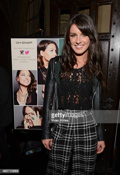 Actress Shenae Grimes attends Sarah Boyd x CapwellCo Collaboration Launch Dinner at Chateau Marmont on January 28 2014 in Los Angeles California