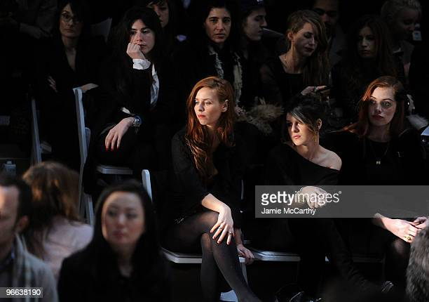 Actress Shenae Grimes attends the Charlotte Ronson Fall 2010 Fashion Show during MercedesBenz Fashion Week at The Tent at Bryant Park on February 12...