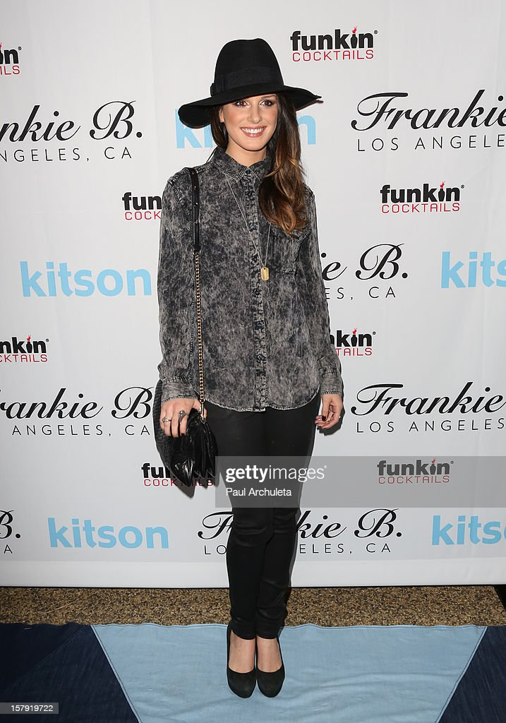 Actress Shenae Grimes attends the Get Festive With Frankie B. and Kitson event at Kitson on Roberston on December 6, 2012 in Beverly Hills, California.