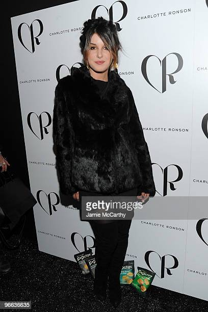 Actress Shenae Grimes backstage at the Charlotte Ronson Fall 2010 Fashion Show during MercedesBenz Fashion Week at The Tent at Bryant Park on...