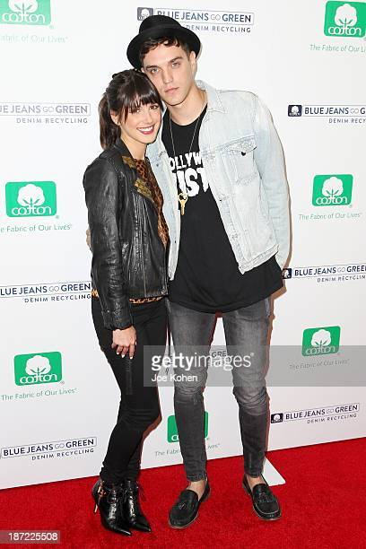 Actress Shenae Grimes Model Josh Beech attend Blue Jeans go green celebrates 1 Million pieces of denim collected for recycling hosted by Miles Teller...
