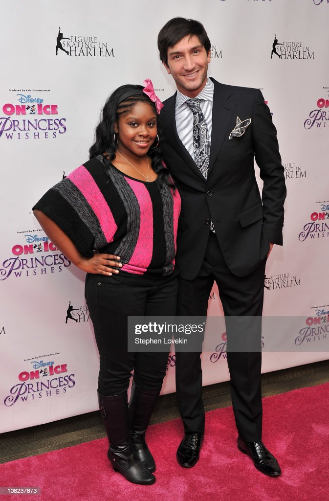 Actress Shenell Edmonds and Olympic gold medalist/TV personality Evan Lysacek attend Disney On Ice's 'Princess Wishes' opening night at Madison Square Garden on January 21, 2011 in New York City.